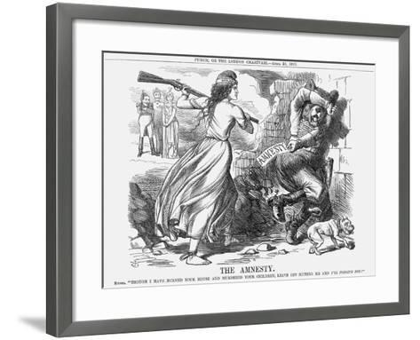 The Amnesty, 1863-John Tenniel-Framed Art Print