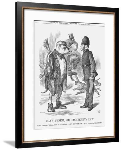 Cave Canem, or Dog (Berr) Law, 1867-John Tenniel-Framed Art Print