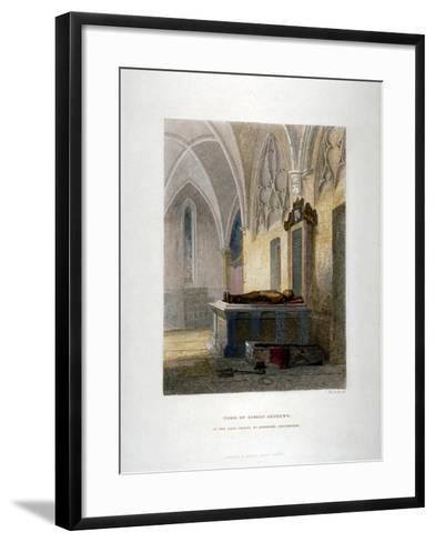 Tomb of Lancelot Andrews in the Lady Chapel, St Saviour's Church, Southwark, London, 1851-John Wykeham Archer-Framed Art Print