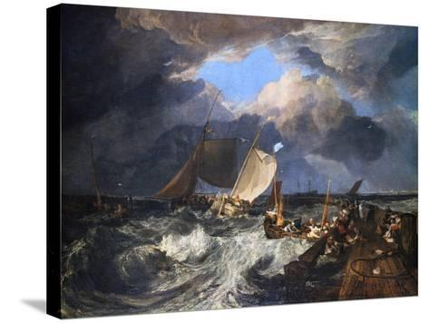 Calais Pier with French Poissards Preparing for Sea: an English Packet Arriving, 1803-J^ M^ W^ Turner-Stretched Canvas Print