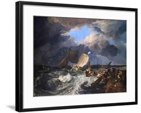 Calais Pier with French Poissards Preparing for Sea: an English Packet Arriving, 1803-J^ M^ W^ Turner-Framed Art Print