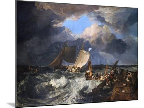Calais Pier with French Poissards Preparing for Sea: an English Packet Arriving, 1803-J^ M^ W^ Turner-Mounted Giclee Print