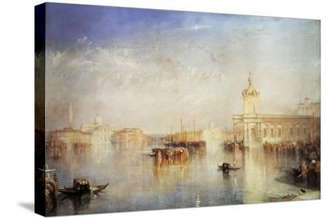 The Dogana, San Giorgio, Citella, from the Steps of the Europa, Venice, 1842-J^ M^ W^ Turner-Stretched Canvas Print
