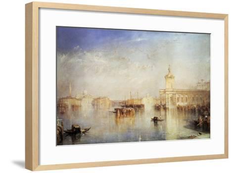 The Dogana, San Giorgio, Citella, from the Steps of the Europa, Venice, 1842-J^ M^ W^ Turner-Framed Art Print