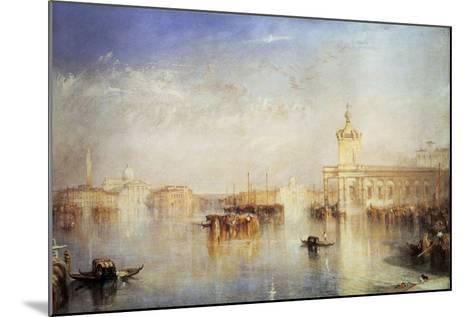 The Dogana, San Giorgio, Citella, from the Steps of the Europa, Venice, 1842-J^ M^ W^ Turner-Mounted Giclee Print
