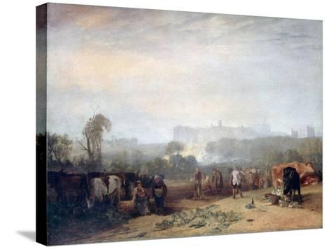 Ploughing Up Turnips, Near Slough, (Windsor), C1809-J^ M^ W^ Turner-Stretched Canvas Print