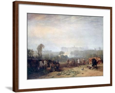 Ploughing Up Turnips, Near Slough, (Windsor), C1809-J^ M^ W^ Turner-Framed Art Print