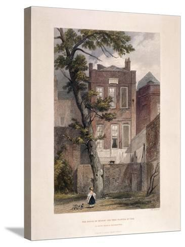 View of Milton's Residence, Petty France, Westminster, London, 1851-John Wykeham Archer-Stretched Canvas Print