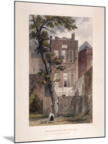 View of Milton's Residence, Petty France, Westminster, London, 1851-John Wykeham Archer-Mounted Giclee Print