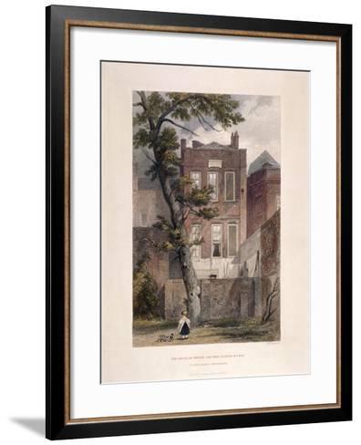 View of Milton's Residence, Petty France, Westminster, London, 1851-John Wykeham Archer-Framed Art Print