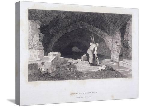 Fleet River, London, 1851-John Wykeham Archer-Stretched Canvas Print