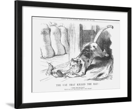 The Cat That Killed the Rat, 1880-Joseph Swain-Framed Art Print