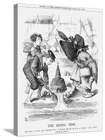 The Rising Tide, 1868-John Tenniel-Stretched Canvas Print