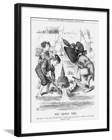 The Rising Tide, 1868-John Tenniel-Framed Art Print