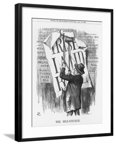 The Bill-Sticker, 1881-Joseph Swain-Framed Art Print