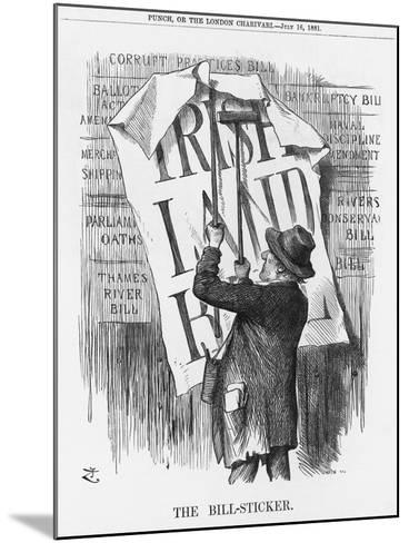 The Bill-Sticker, 1881-Joseph Swain-Mounted Giclee Print