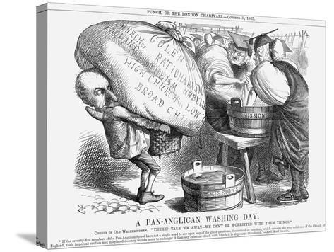A Pan-Anglican Washing Day, 1867-John Tenniel-Stretched Canvas Print