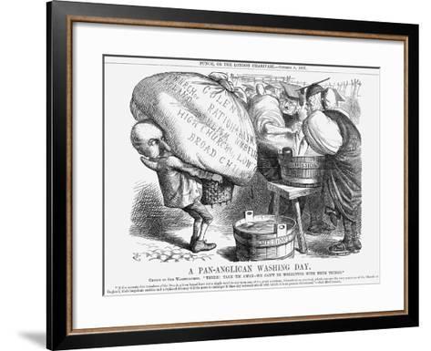A Pan-Anglican Washing Day, 1867-John Tenniel-Framed Art Print