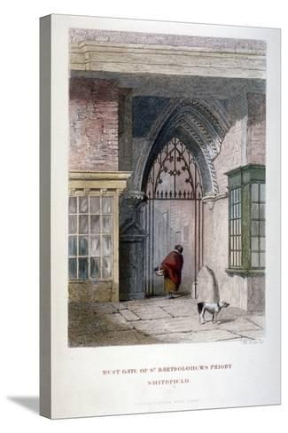 West Gate of the Old Priory of St Bartholomew-The-Great, Smithfield, City of London, 1851-John Wykeham Archer-Stretched Canvas Print