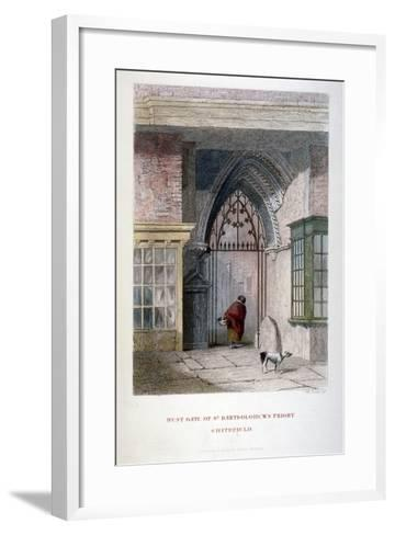 West Gate of the Old Priory of St Bartholomew-The-Great, Smithfield, City of London, 1851-John Wykeham Archer-Framed Art Print