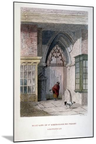 West Gate of the Old Priory of St Bartholomew-The-Great, Smithfield, City of London, 1851-John Wykeham Archer-Mounted Giclee Print