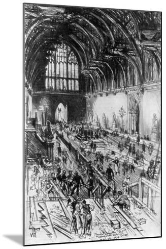 The Workmen in Possession, Westminster Hall, London, 1910-Joseph Pennell-Mounted Giclee Print