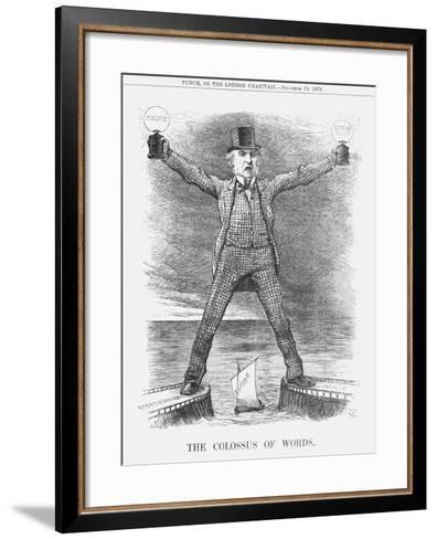 The Colossus of Words, 1879-Joseph Swain-Framed Art Print