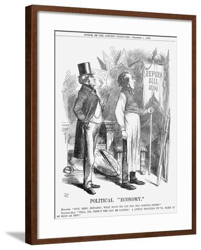 Political Economy, 1866-John Tenniel-Framed Art Print