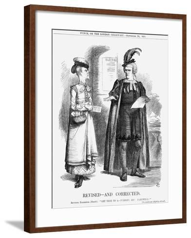 Revised-And Corrected, 1868-John Tenniel-Framed Art Print
