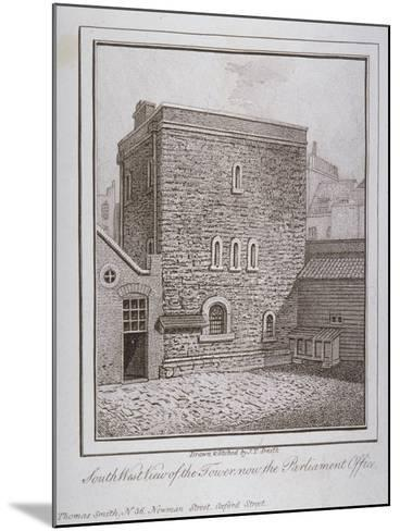 South-West View of the Jewel Tower, Old Palace Yard, Westminster, London, C1805-John Thomas Smith-Mounted Giclee Print