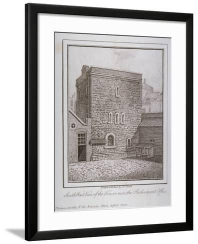 South-West View of the Jewel Tower, Old Palace Yard, Westminster, London, C1805-John Thomas Smith-Framed Art Print