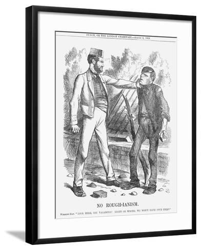 No Rough-Ianism, 1866-John Tenniel-Framed Art Print