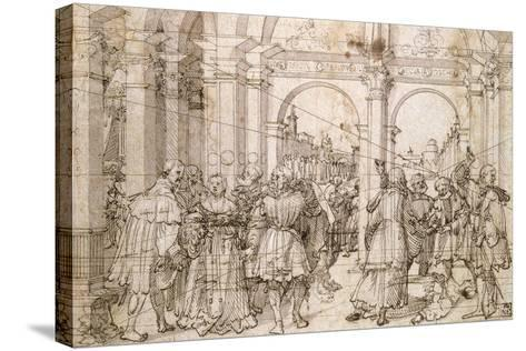 The Suicide of Lucretia, Early 16th Century-Jorg Breu the Elder-Stretched Canvas Print