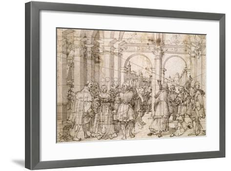 The Suicide of Lucretia, Early 16th Century-Jorg Breu the Elder-Framed Art Print