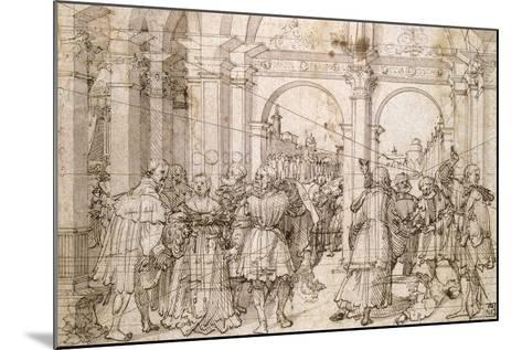 The Suicide of Lucretia, Early 16th Century-Jorg Breu the Elder-Mounted Giclee Print