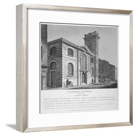 Church of St Clement, Eastcheap, City of London, 1812-Joseph Skelton-Framed Art Print