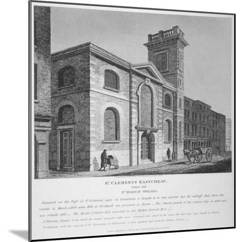 Church of St Clement, Eastcheap, City of London, 1812-Joseph Skelton-Mounted Giclee Print