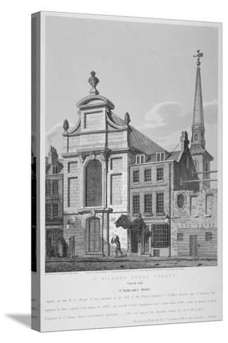 Church of St Mildred, Bread Street, City of London, 1838-Joseph Skelton-Stretched Canvas Print