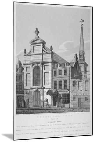 Church of St Mildred, Bread Street, City of London, 1838-Joseph Skelton-Mounted Giclee Print
