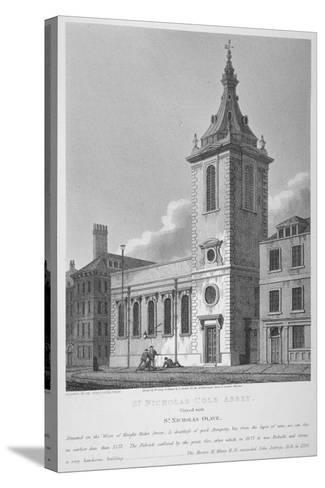 View of St Nicholas Cole Abbey and Knightrider Street, City of London, 1812-Joseph Skelton-Stretched Canvas Print