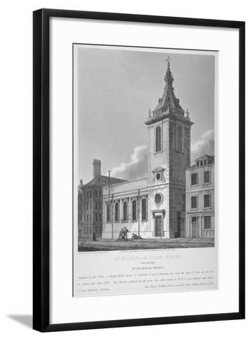 View of St Nicholas Cole Abbey and Knightrider Street, City of London, 1812-Joseph Skelton-Framed Art Print
