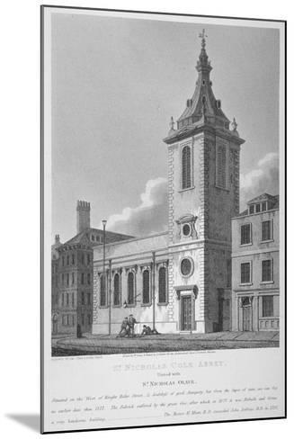 View of St Nicholas Cole Abbey and Knightrider Street, City of London, 1812-Joseph Skelton-Mounted Giclee Print