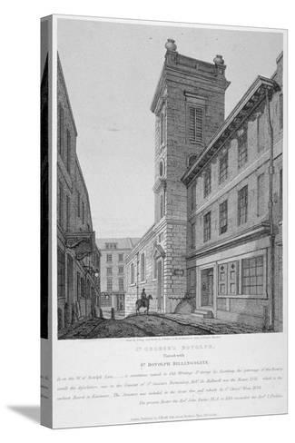 Church of St George Botolph Lane, at the South-East Corner of George Lane, City of London, 1814-Joseph Skelton-Stretched Canvas Print