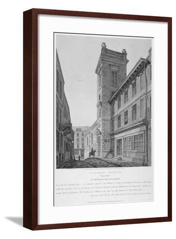 Church of St George Botolph Lane, at the South-East Corner of George Lane, City of London, 1814-Joseph Skelton-Framed Art Print