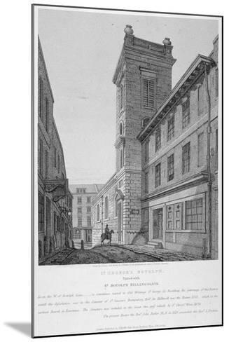 Church of St George Botolph Lane, at the South-East Corner of George Lane, City of London, 1814-Joseph Skelton-Mounted Giclee Print