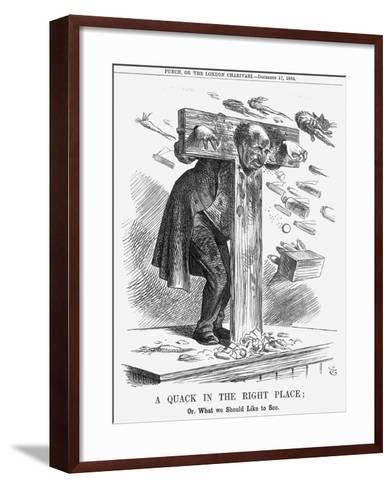 A Quack in the Right Place, 1864-John Tenniel-Framed Art Print