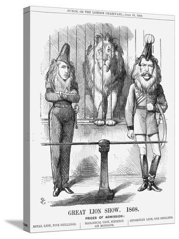 Great Lion Show, 1868-John Tenniel-Stretched Canvas Print