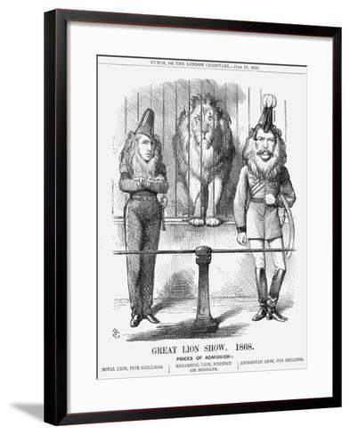 Great Lion Show, 1868-John Tenniel-Framed Art Print