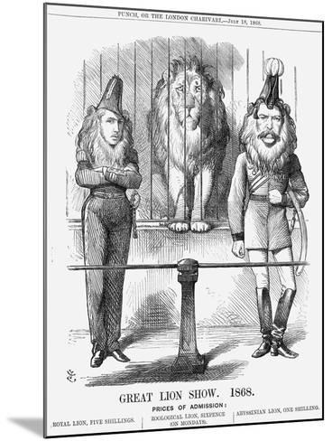 Great Lion Show, 1868-John Tenniel-Mounted Giclee Print