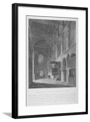 Interior View of the Church of St Bartholomew-The-Great, Smithfield, City of London, 1814-Joseph Skelton-Framed Art Print